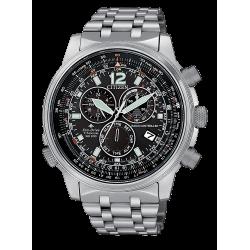Orologio uomo Eco Drive Citizen radiocontrollato Crono Pilot Super Titanio - CB5850-80E