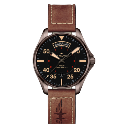 Orologio uomo hamilton khaki aviation pilot day date - H64605531
