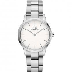 Orologio donna daniel wellington iconic link 36 silver white - DW00100203