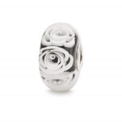 Beads trollbeads rosa regina, bianca - TGLBE-30044