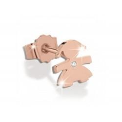 Mono orecchino leBebè-le briciole bimba oro rosa - LBB330