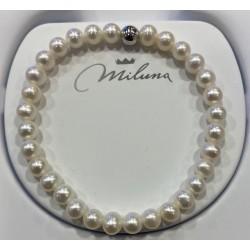 Bracciale donna in argento perle miluna gioielli - PBR3034