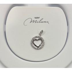 Ciondolo in argento miluna cuore - PFD859