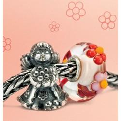 Thumbnail Beads trollbeads thun angelo con fiore - TAGBE-30159